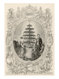 Queen Victoria and the Royal Children Gather Round the Christmas Tree Giclee Print
