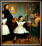 The Bellelli Family Framed Giclee Print by Edgar Degas