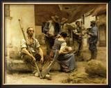 La Paye des Moissonneurs, c.1882 Posters by Léon Augustin L'hermitte