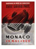 Monaco Grand Prix Poster Giclee Print