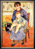 Mother and Child Framed Giclee Print by Pierre-Auguste Renoir
