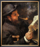 Portrait of Claude Monet Reading Framed Giclee Print by Édouard Manet