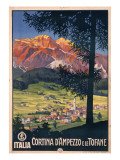 Poster Advertising Cortina D'Ampezzo Giclee Print