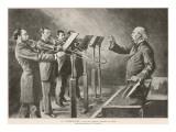 Professor M. Delisse Tutors a Quartet of Trombone Players Giclee Print