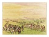 Mandan Horse Racing Giclee Print