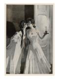 Lesbian Lovers Steal a Kiss Giclee Print
