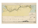 Map of the Panama Canal, Giclee Print