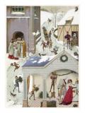 Medieval Christmas Scene Giclee Print