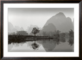 Receding Peaks, Guanxi Prints by Chris Honeysett