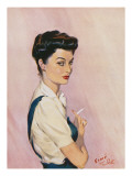 My Favourite Model (Mrs David Wright) Giclee Print by David Wright