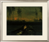 Evening Landscape II Framed Giclee Print by Vincent van Gogh