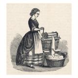 Mangling Machine Giclee Print