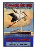 Messageries Maritimes Poster Giclee Print
