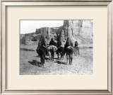 Navajo on Horseback Framed Giclee Print by Edward S. Curtis
