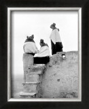 Hopi Maidens Framed Giclee Print by Edward S. Curtis