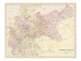 Map of the German Empire after the War with France (Note Alsace and Lorraine are Included) Giclee Print
