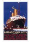 Norddeutscher Lloyd Shipping Poster Giclee Print