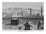 Mecca with Thousands of Pilgrims Giclee Print