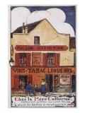 Montmartre Restaurant Giclee Print