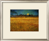 Summer Evening Near Arles Framed Giclee Print by Vincent van Gogh