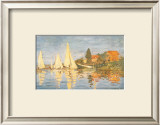 Regatta at Argenteuil Posters by Claude Monet