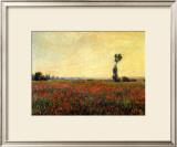 Poppy Landscape Framed Giclee Print by Claude Monet