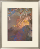 Ballerina and Lady with Fan Prints by Edgar Degas