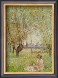 Woman Under the Willows Prints by Claude Monet