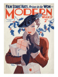 Modern Weekly Magazine Cover Giclee Print by David Wright