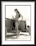 Pin-Up Girl: 1932 High Boy Salt Flat Framed Giclee Print by David Perry