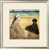 At the Beach Framed Giclee Print by Édouard Manet
