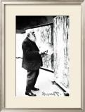 Claude Monet in the Art Studio Framed Giclee Print