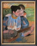 The Banjo Lesson Framed Giclee Print by Mary Cassatt