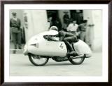 Mondial Motorcycle GP Dustbin Framed Giclee Print