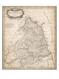 Map of Northumberland Giclee Print