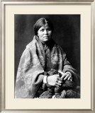 Girl in Blanket Framed Giclee Print by Edward S. Curtis