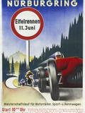 Motor Racing 1930s Giclee Print
