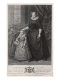 Mary, Queen of Scots with Her Son (Later James Vi of Scotland and James I of England) Giclee Print