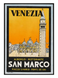 Label from the Albergo and Ristorante San Marco, Venice, Italy Giclee Print
