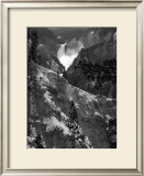 Mountain Waterfall I Print by Edward C. Morris