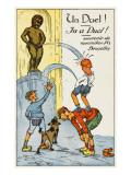 Manneken Pis Postcard Album - a Duel Giclee Print