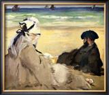 At the Beach Framed Giclee Print by Édouard Manet