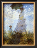 Madame Monet and Her Son Poster by Claude Monet