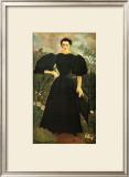 Portrait of a Woman Framed Giclee Print by Henri de Toulouse-Lautrec