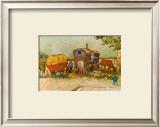 Caravans Encampment of Gypsies Prints by Vincent van Gogh
