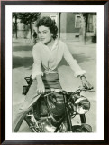 Starlite on Gilera Motorcycle, c.1952 Framed Giclee Print