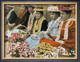 Flower Vendors Framed Giclee Print
