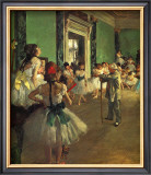 Dance Class Framed Giclee Print by Edgar Degas