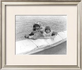 Two Children on the Water Framed Giclee Print by Edward S. Curtis