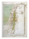 Map of Palestine in Biblical Times Giclee Print